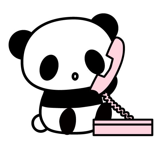 電話するパンダ